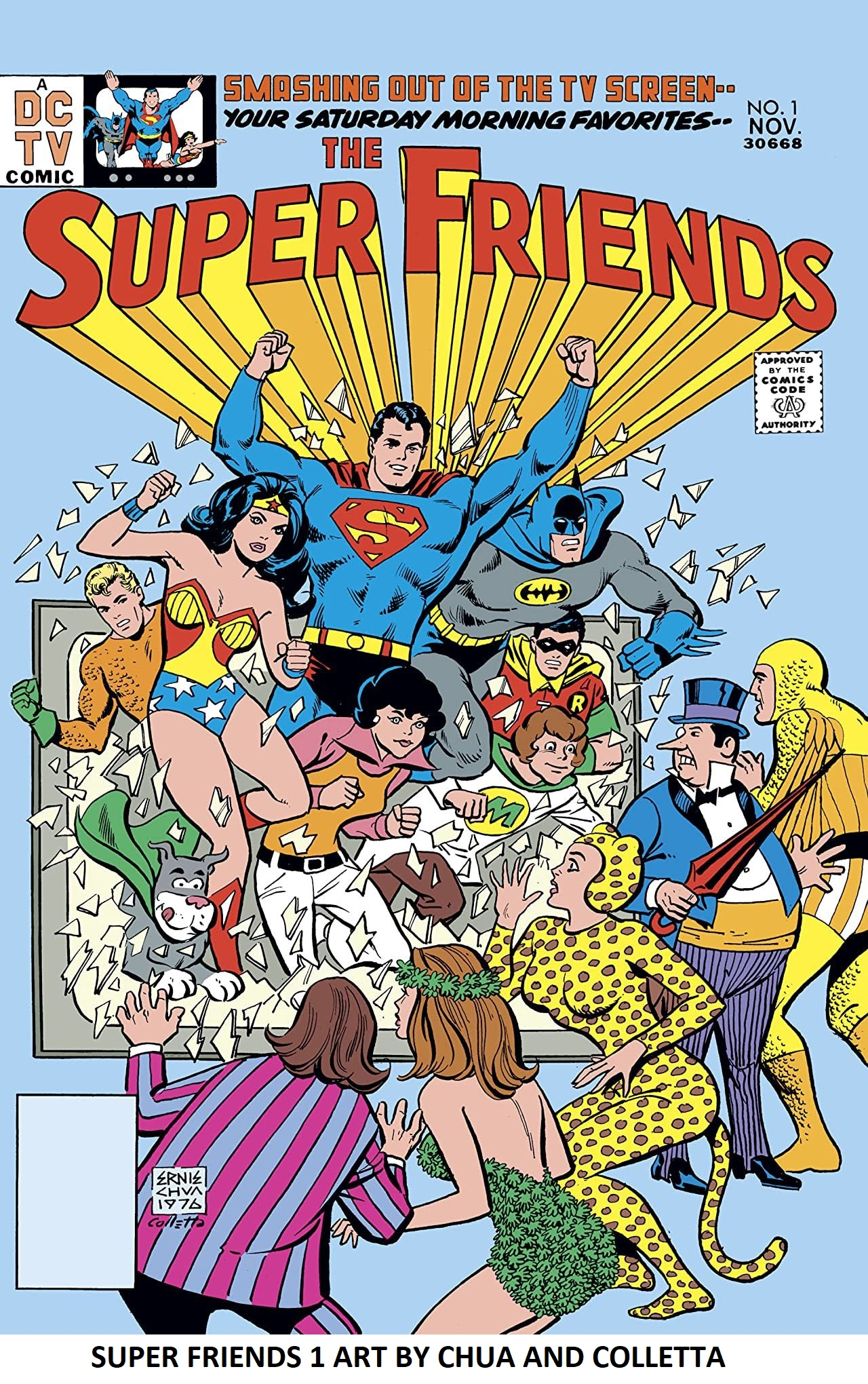 SUPER FRIENDS #1 ART BY ERNIE CHUA AND VINCE COLLETTA