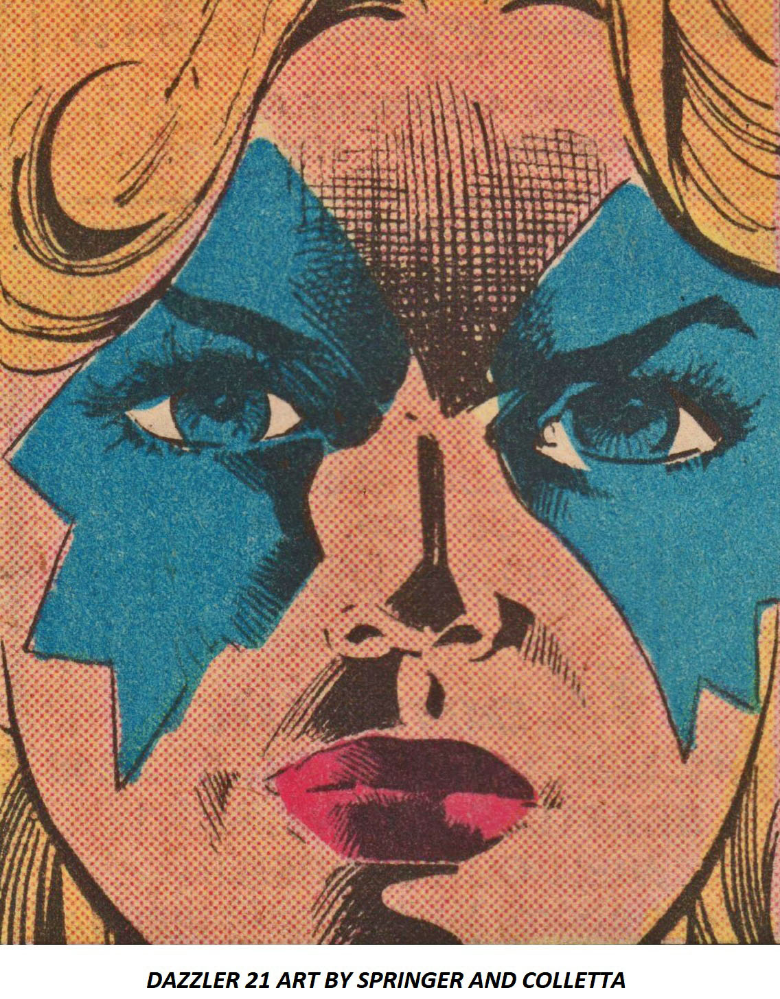 DAZZLER 21 ART BY FRANK SPRINGER AND VINCE COLLETTA